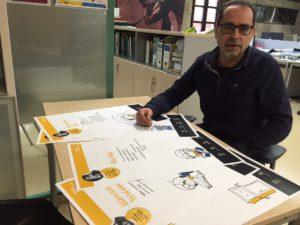 En Víctor Pallarès ha fet un dibuix per a cada comerç